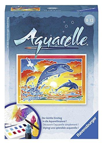 Ravensburger - Spielende Delfine. Aquarelle-Malen Mini