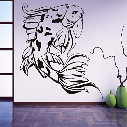 Zybnb Japanische Koi Wandaufkleber Vinyl Aushöhlen Design Kunst Aufkleber Diy Wasserdichte Tapete Für Kinderzimmer Badezimmer Wohnkultur 44X51Cm