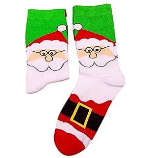 Kinlene Mujeres y hombres de Navidad cómodos raya algodón calcetín corto tobillo calcetín