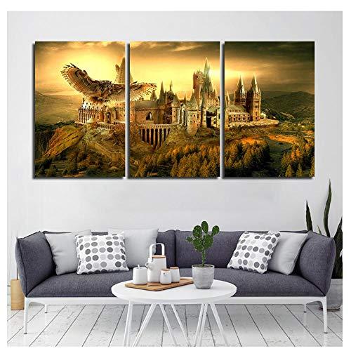 Hogwarts Leinwand Poster Drucke Wandkunst Malerei Dekorative Bild Moderne Dekoration Zubehör Pop-50x70 cm Kein Rahmen