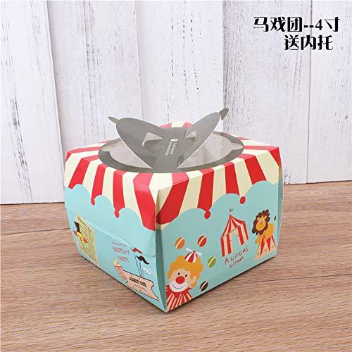 LUOSHUI Cartoon Birthday Cake Box 6