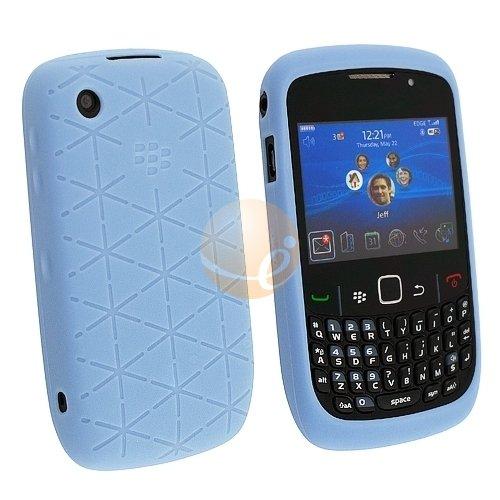 Blackberry Curve 8520geprägt Silikon Haut Case-Frost Blau OEM Original hdw-24540-001 -