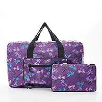 Faye UK Ltd. Eco-Chic Foldable Travel Bag Cabin Approved Lightweight Purple Bike
