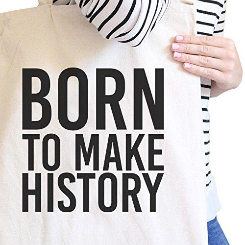 365 Printing inc , Borsa da spiaggia  Donna Adult-ish - Natural Born To Make History - Natural