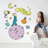 wall art R00371 Adesivo murale per bambini piccolo principe e la stella cometa - Misure 120x30 cm - Decorazione parete, adesivi per muro, carta da parati