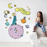 kina R00371 Adesivo murale per Bambini Wall Art - Il Piccolo Principe e la Stella cometa - Misure 120x30 cm - Decorazione Parete, Adesivi per Muro, Carta da Parati