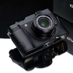 Gariz Cuir véritable Fuji X10/X20 Moitié Cas - Noir