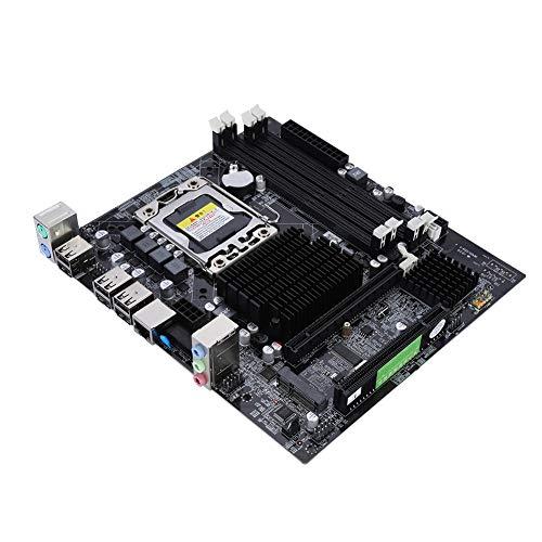 ASHATA LGA 1366 DDR3 Mainboard,X58 Desktop Computer Motherboard 4xDDR3 DIMM Speicher,4 Speichersteckplätze LGA 1366 USB2.0 SATA2.0 MSATA Hauptplatine Motherboard Schwarz