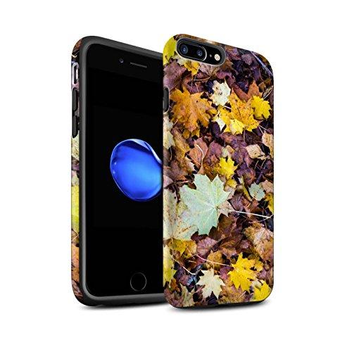 STUFF4 Matte Harten Stoßfest Hülle / Case für Apple iPhone 8 Plus / Pack 5pcs / Herbst Saison Kollektion Laub