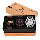 #6: Flux Triple Combo Multicolour Dial Analog Combo Watches For Mens Fx0018