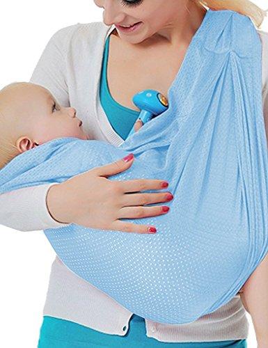 Vine Baby Träger Säugling Ring Schlinge Beutel Neugeborene bis Kleinkind Travel-Schnell Trocken Wasser Schwimmbad Strand Wickeln Hellblau