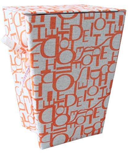 Cesta portabiancheria scritte arancioni per bagno lavanderia vestiti indumenti