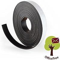 Bande magnétique OfficeTree ® - 3 m - Autocollante pour aimanter photos, notes, ou cadres en toute sécurité – Adhésion extraforte sur tableau blanc, tableau aimanté, tableau noir - noir