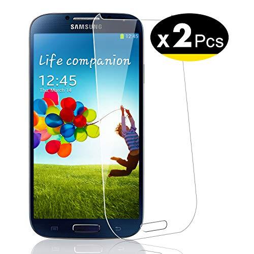 NEW'C Lot de 2, Verre Trempé pour Samsung Galaxy S4 Film Protection écran - Anti Rayures - sans Bulles d'air -Ultra Résistant (0,33mm HD Ultra Transparent) Dureté 9H Glass
