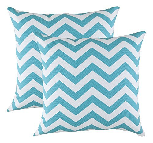 treewool2er-pack-chevron-design-baumwolle-dekoratives-kissenbezg-45-x-45-cm-trkis