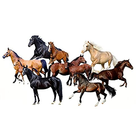 AIHOME™ 3D Running horse Pattern Removable Wall Stickers Home Decals Wallpaper Wallcovering Wall Decoration for Living Room Bathroom Bedroom Coffee Shop Cafe Bedroom Decoration (Size:50 * 70cm/19.68*27.55inches )