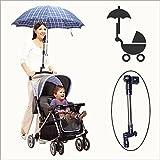 Nero regolabile staffa di supporto per ombrello parasole per passeggino Bick immagine