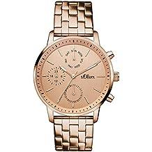 s.Oliver Damen-Armbanduhr Analog Quarz Edelstahl SO-3188-MM