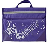 Musicwear: Wavy Stave Music Bag (Purple)