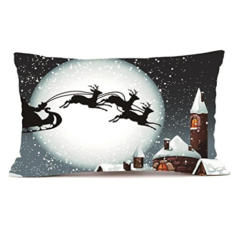 30cm 50cm 11 8 19 7 In Christmas Pillow Case  HUHU833 Rectangle Cushion Cover Silk Throw Pillow Case  L