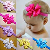 #4: Rrimin 12pcs Kid Baby Girl Toddler Cute Bowknot Flower Headband Hair Band Headwear