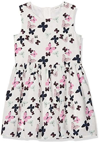 NAME IT Mädchen Kleid Nkfkifason Dress, Weiß (Bright White Bright White), - Dress Fit-n-flare