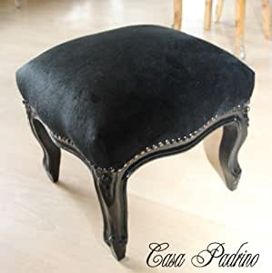 casa padrino barock repose pieds noir noir m bel tabouret style ancien cuisine maison. Black Bedroom Furniture Sets. Home Design Ideas