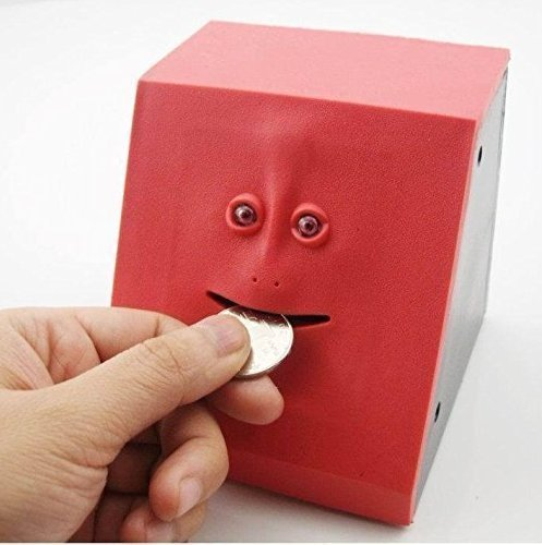 automatische kauen Piggy Spardose Box Neuheit Geld Cash Safe Box Ziegel Gesichtswahrung Bank Geschenk für Kinder (Kunststoff-sparschweine Für Kinder)