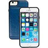 Nice Style Apple iphone 6 Case cover, Apple iPhone 6 Blue Designer 2-1 Multi-function Detachable Magnetic 3 Card Slots Wallet Style Wallet Case Cover