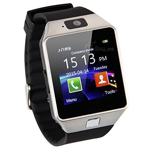 Zomtop DZ09 Bluetooth intelligente dell'orologio della vigilanza con la macchina fotografica Sync per Android IOS Smart Phone di Samsung S5 / Nota 2/3/4, Nexus 6, HTC, Sony, Huawei e altri smartphone Android (argento)