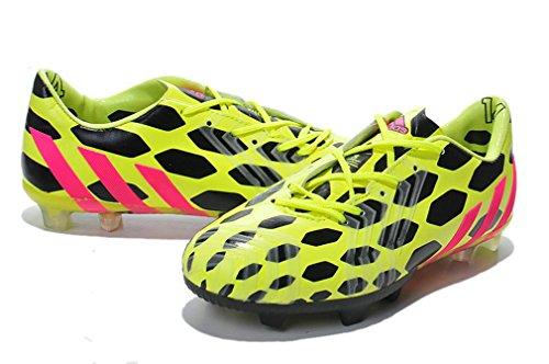 Generic da uomo Predator Absolado Instinct XIV TF 14Coppa del Mondo calcio scarpe calcio stivali, Uomo, Yellow/Black, UK10.5/EUR45