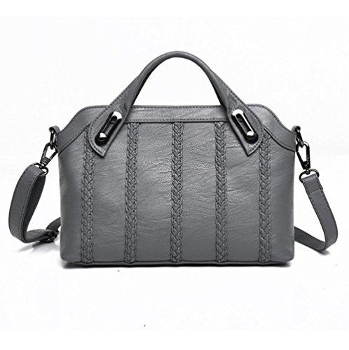 GBT Handtaschen-Schulter-Beutel-Art- und Weisehandtaschen-Frauen-Schulter-Beutel gray