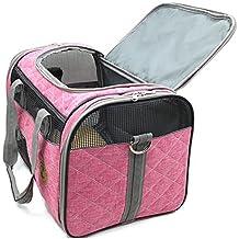 colourstone Nouveaux diseño de bolsa de transporte, posibilidad Plié Ne Se occupe pas de la plaza con un Cousin AU posavasos para cachorro gato, conejo & # xFF0C; Perro bien a la Aise dedans bolsa para Chihuahua York bolsa de Oxford color rosa muy práctica con colchón
