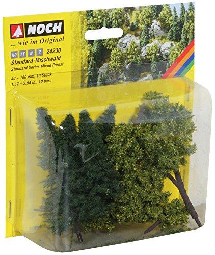 Noch 24230 - Landschaftszubehör: Mischwald 10 Bäume, 40 - 100 mm
