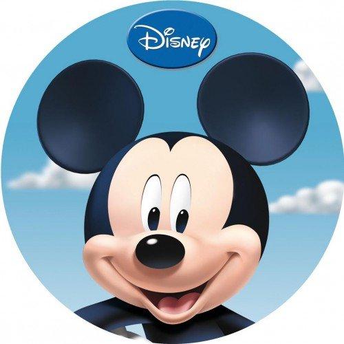 Mickey Mouse Disney Mickey Mouse Pad in Ostia für Kuchen personalisierbar-Kit N ° 3cdc- (1Waffel in Ostia Rund Durchmesser 19cm Druck auf Folio A4210× 297mm) (Waffel-pad)