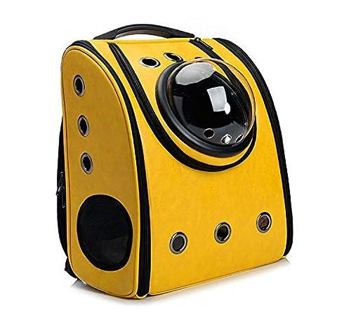 Capsule Pet Backpack Airline Approved Transparent Respirant Venthole Chien Cat Carrier Portable Sac à Main Voyage En Plein Air RandonnéE PéDestre Suitcase 4 Couleur , yellow