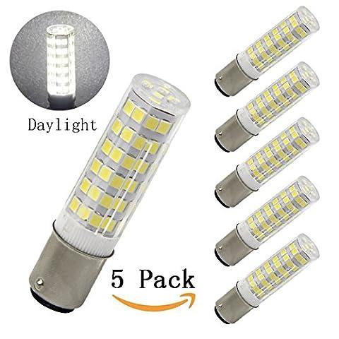 Bqhy, Ba15d Double Contact Bayonet Base LED Light Bulbs 220 Volts 5 Watts 500lm Daylight 6000K T3/T4/C7/S6 LED Halogen...