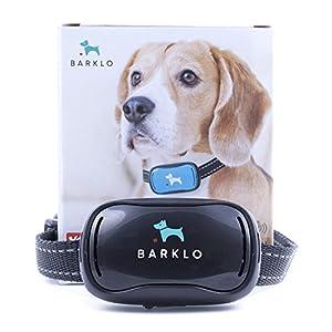 Petit Sans Choc Collier anti-aboiement de Barklo Rechargeable et étanche à l'eau dissuasion d'aboiements par vibration pour chiens petits et moyens 3Kg+ 12-48cm