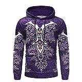Saingace(TM) Herren Pullover Sweatshirt,Spring Winter Langarm Print Kapuzenpullover mit Rundhalskragen aus hochwertiger Polyester