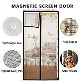 DULPLAY Magnet fliegengitter tür,mit Heavy-Duty Mesh Vorhang Full-Frame-Klettverschluss,Mesh-Vorhang Halten Sie Insekten und mücken-H 100x220cm(39x87inch)