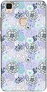 The Racoon Lean printed designer hard back mobile phone case cover for Vivo V3 Max. (Night Rend)