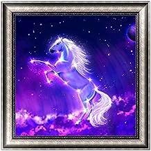 Jagenie DIY 5D pittura diamante cavallo ricamo Cross Stitch artigianato d' arte Home Decor 30x 30cm