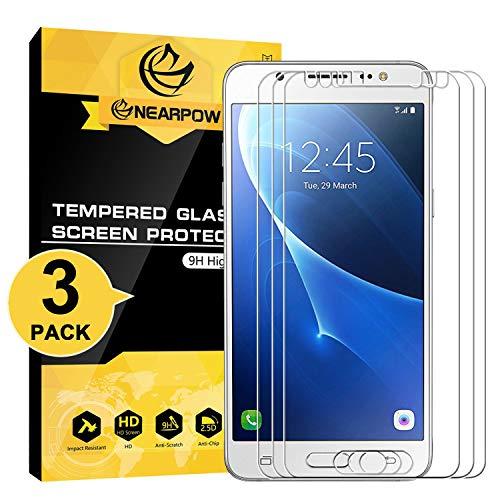 NearPow [3 Stück Kompatibel mit Panzerglas Bildschirmschutzfolie Samsung Galaxy J5 2016, Schutzfolie 9H Härte, Anti-Kratzen, Anti-Öl, Anti-Bläschen, Anti-Fingerabdruck
