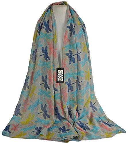 GFM Fastglas Dragon Fly toutes saisons Écharpe Imprimé léopard et foulard foulard, islamique. CDFBH - Grey