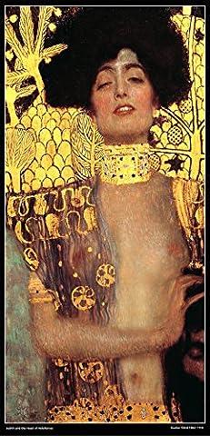 Français Art Sur Toile Poster Laminé–Judith et la tête d'Holopherne de Gustav Klimt (1862–1918)–29x 29x 59cm (environ)