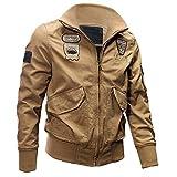 Winterjacke Herren UFODB Militär Jacke Männer Pilotenjacke Outdoorjacken Solid Zipper Jacket Langarm Sportjacke Wanderjacke Funktionsjacke