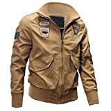 Kanpola Jacke Herren Übergangsjacke Winterjacke Bomberjacke Outdoorjacken Militärische Taktische Jacken Mantel Angebote (48, Khaki)