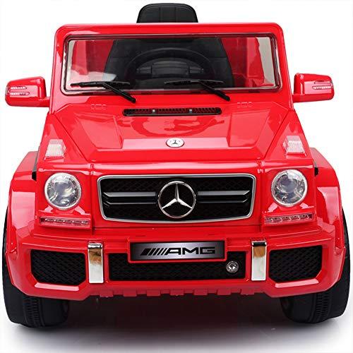 Aiya Kids Mercedes Benz G63 lizenzierte Childrens Electric Ride ON CAR FÜR Kids Licensed Mercedes G63 MIT Parental Remote Control,Red - Mercedes Car Kids On Ride