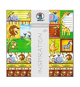 Ursus 703000185 Premium Glitter - Cuaderno de Recortes, diseño de Zoo