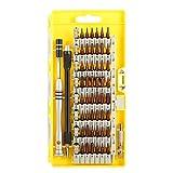 MECO 60 en 1 Destornilladores de Precisión Kit de Destornillador Completo Herramienta Reparación para Tablet PC, Ordenadores Portátiles, Teléfonos inteligentes, PC Tools, Relojes Electrónicos, MacBook y Otros Dispositivos Amarillo